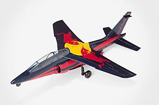 Alpha jet red bull 1 40 new ray automi niature01