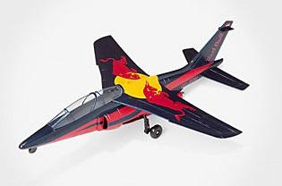 Alpha jet avion Red Bull de la Flying bulls