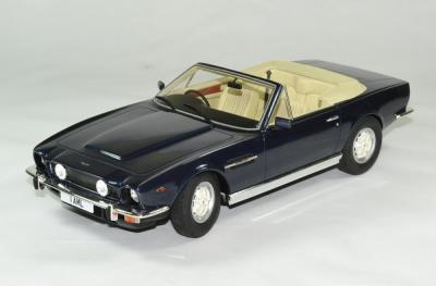 Aston martin V8 volante cabriolet bleu métallisé