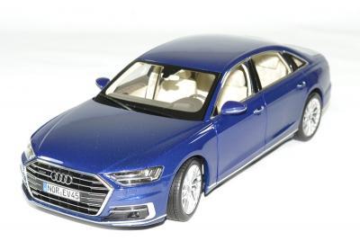 Audi A8L bleu métallisé 2017