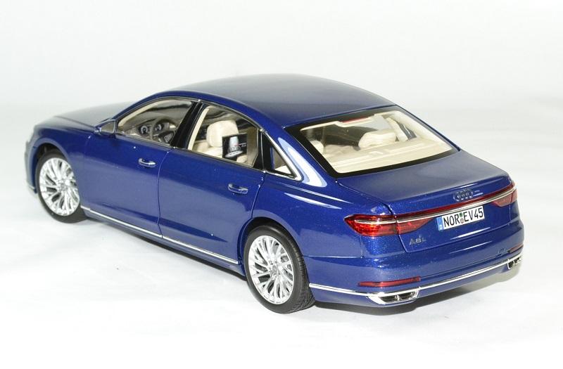 Audi a8 l 2017 bleu norev 1 18 autominiature01 2