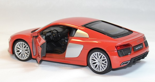 Audi r8 v10 rouge welly 1 24 autominiature01 3