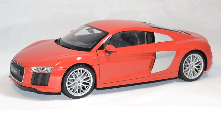 audi r8 v10 2016 rouge miniature auto welly 1 18. Black Bedroom Furniture Sets. Home Design Ideas