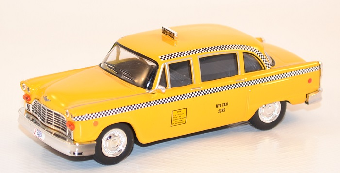 Autominiature01 com checker taxi new york 1977 serie friends greenlight 1 43 1