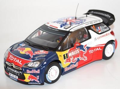 Citroen DS3 WRC 1er Rallye Grande Bretagne 2011 1/18 Norev