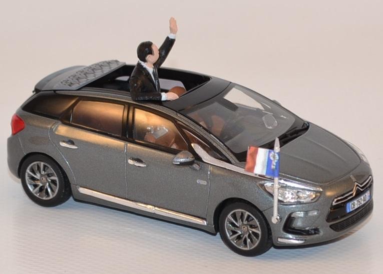 citroen ds5 pr sidentielle 2012 figurine hollande 1 43 norev. Black Bedroom Furniture Sets. Home Design Ideas
