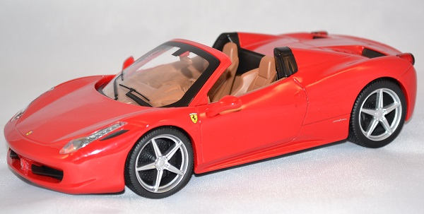 Autominiature01 com ferrari 458 spyder rouge 1 24 hotwheels 1