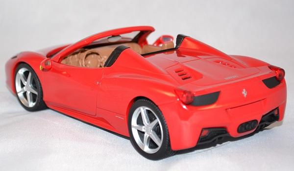 Autominiature01 com ferrari 458 spyder rouge 1 24 hotwheels 3