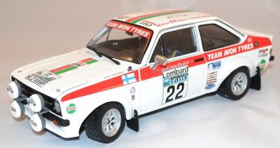 Ford escort RS 1800 Rallye Rac 1976 #22 Sunstar 1/18