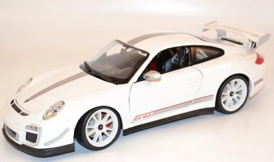 Porsche 911-997 Gt3 RS 4.0l blanche bburago au 1/18