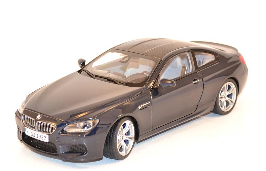 Bmw m6 f13m coupe bleue 1 18 paragon 97052 autominiature01 com 1