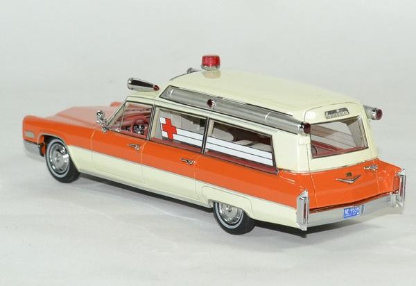 cadillac s s blanc orange ambulance 1966 neo 1 43. Black Bedroom Furniture Sets. Home Design Ideas