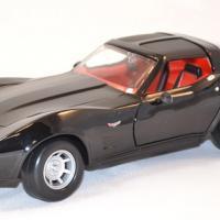 Chevrolet corvette 1979 noire miniature motor max 1 43 autominiature01 com 1