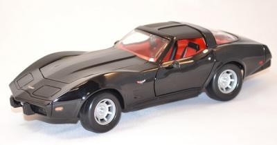 Chevrolet corvette noire 1979 motor max 1/24