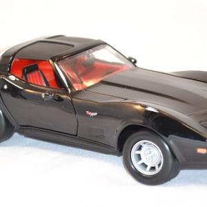 Chevrolet corvette 1979 noire miniature motor max 1 43 autominiature01 com 2