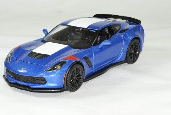 Chevrolet corvette 2017 grand sport bleu 1 24 maisto autominiature01 1