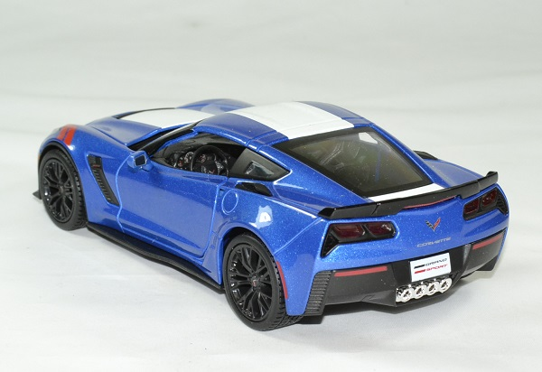 Chevrolet corvette 2017 grand sport bleu 1 24 maisto autominiature01 2