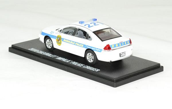 Chevrolet impala 2010 hawai 5 0 police cruiser 1 43 greenlight autominiature01 2