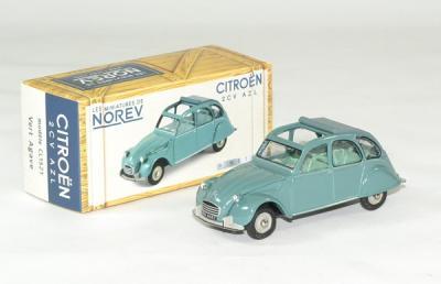 Citroen 2cv azl 1966 vert norev 1 43 autominiature01 1