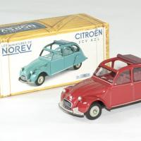 Citroen 2cv azl rouge 1968 norev 1 43 autominiature01 1