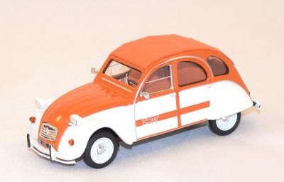 Citroen 2cv spot 1976 orange 1/43 sunstar vitesse