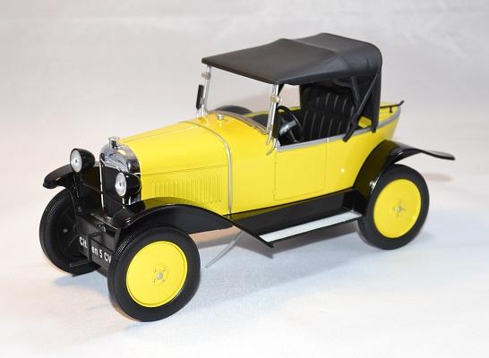 Citroen 5 cv 1922 jaune mdg 1 18 autominiature01 1