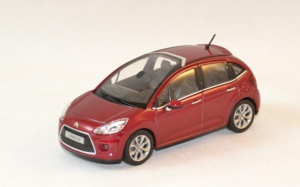 citroen c3 2009 rouge miniature auto norev 1 43. Black Bedroom Furniture Sets. Home Design Ideas