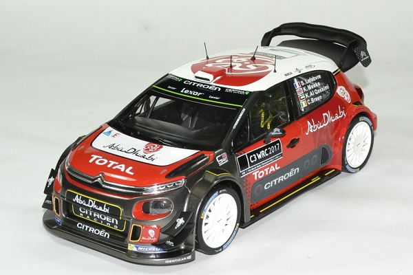 citroen c3 wrc 2017 version officielle miniature norev 1 18. Black Bedroom Furniture Sets. Home Design Ideas