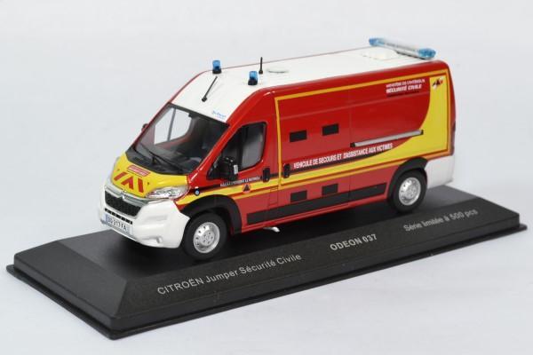 Citroen jumper securite civile pompiers odeon 1 43 0037 autominiature01 1