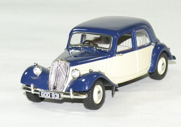 Citroen traction 15 bleu 1949 1 43 norev autominiature01 1