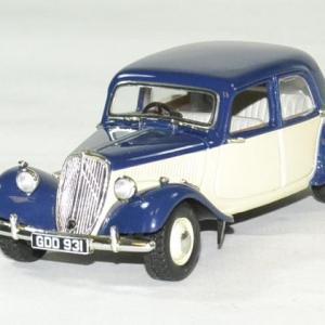 Citroen traction 15 1949 bleu foncé / crème