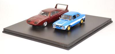 coffret fast and furious 6 dodge charger et ford escort rs2000 greenlight 1/43
