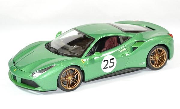 Ferrari 488 gtb green jewel 1 18 bburago autominiature01 1