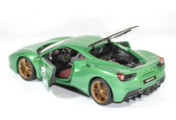 Ferrari 488 gtb green jewel 1 18 bburago autominiature01 3