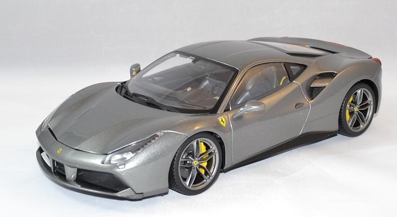 Ferrari 488 gtb grise bburago 1 18 bur16905g autominiature01 2