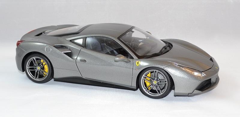 Ferrari 488 gtb grise bburago 1 18 bur16905g autominiature01 4