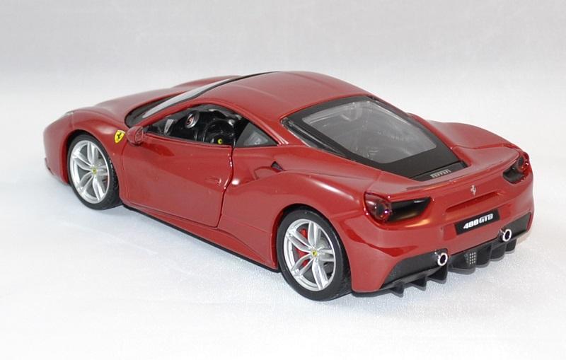 Ferrari 488 gtb rouge bburago 1 24 bur26013 vermillon autominiature01 2