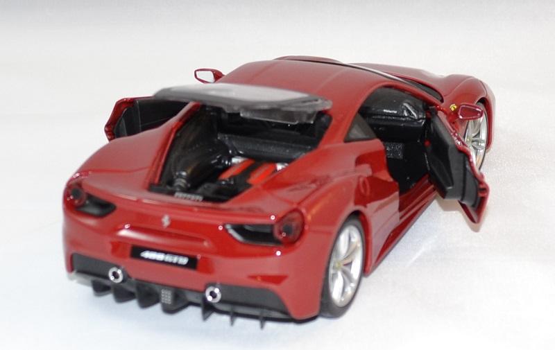 Ferrari 488 gtb rouge bburago 1 24 bur26013 vermillon autominiature01 4