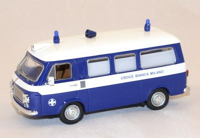 Fiat 238 ambulance white cross of Milan 1973 Rio 1/43