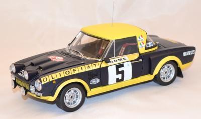 Fiat 124 abarth #5 rallye monte carlo 1976 sunstar 1/18