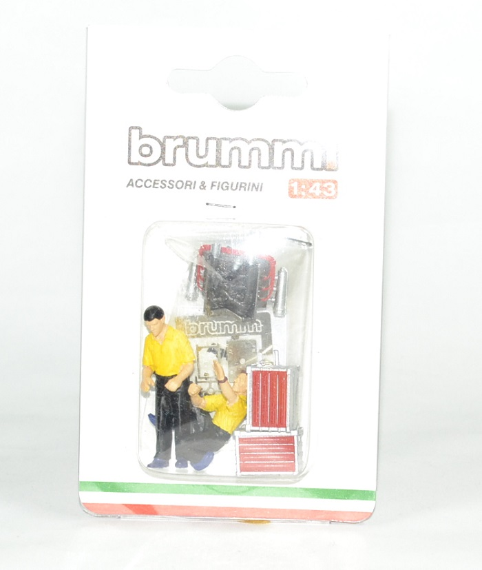 Figurine ferrari mecano agip 1 43 brumm autominiature01