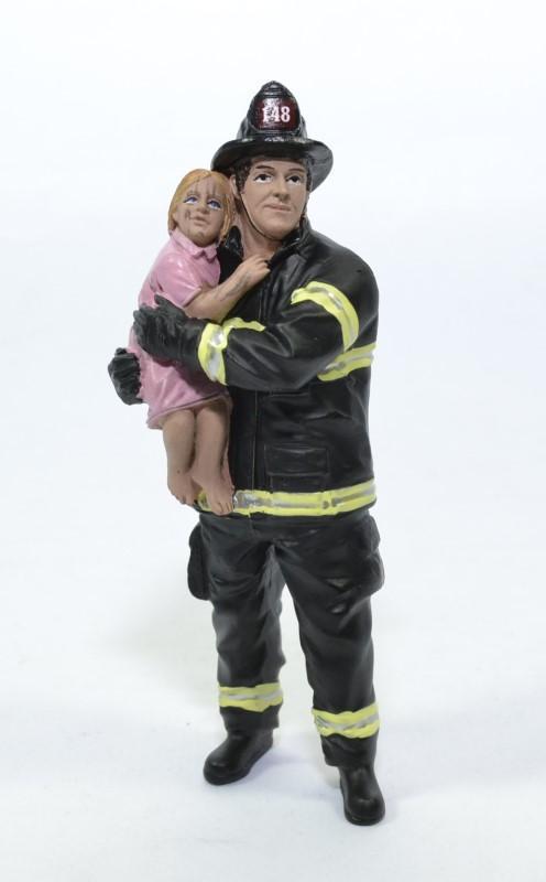 Figurine pompier bebe usa american diorama 1 18 autominiature01 77460