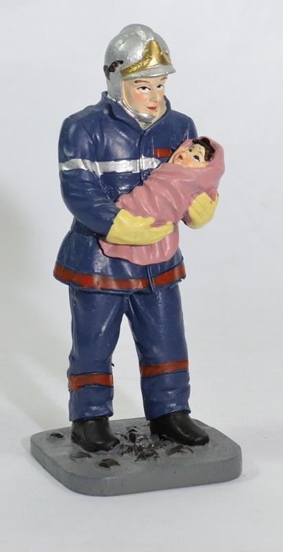 Figurine sapeur pompier bebe pom002 12cm autominiature01