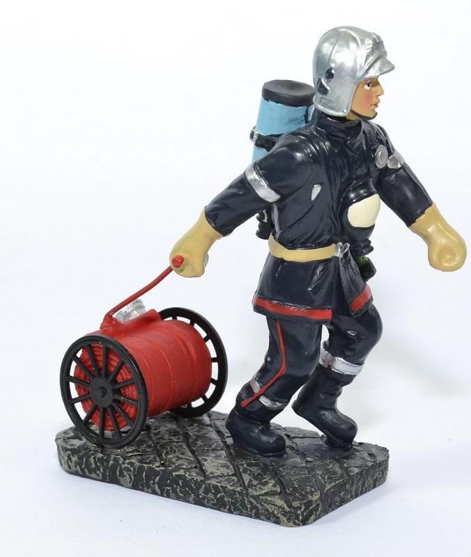 Figurine sapeur pompier devidoir petit modele 13cm pom005 autominiature01