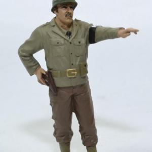 Figurine Soldat armée américaine MP main en l'air WW2 USA