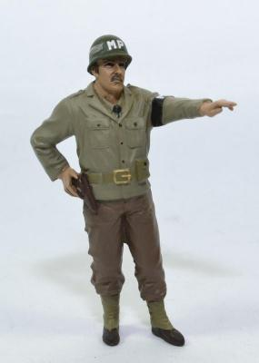 Figurine Soldat armée américaine MP main en l'air WW2 USA
