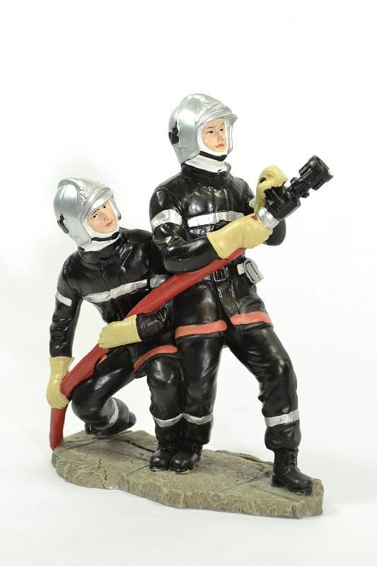 Figurines sapeurs pompiers lance haut pom061 19cm autominiature01