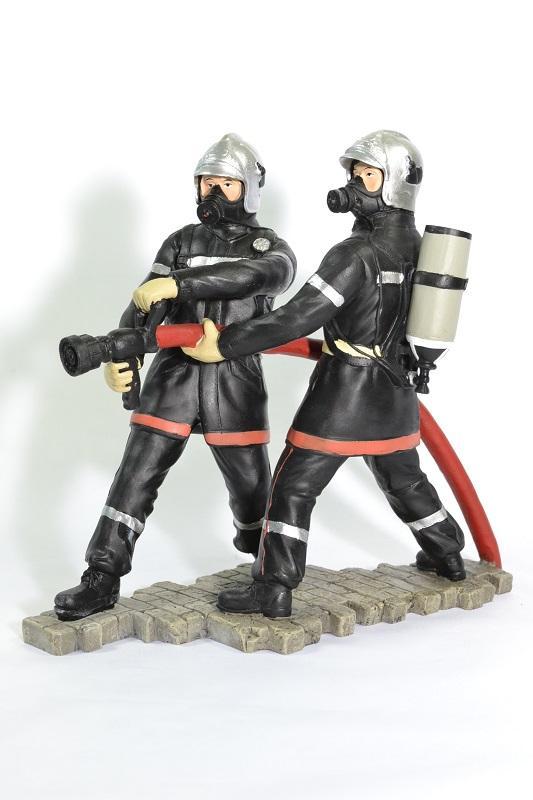 Figurines sapeurs pompiers lance horizontal pom060 19cm autominiature01