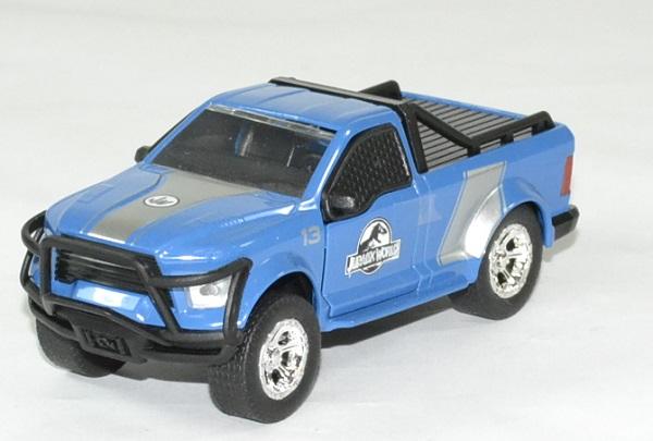Ford f 150 bleu jurassic world rescue jada toys 1 43 autominiature01 1