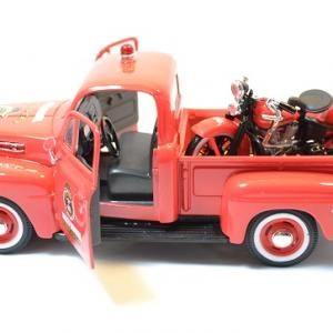 Ford f1 maisto harley davidson pompier moto 1936 1 24 autominiature01 5